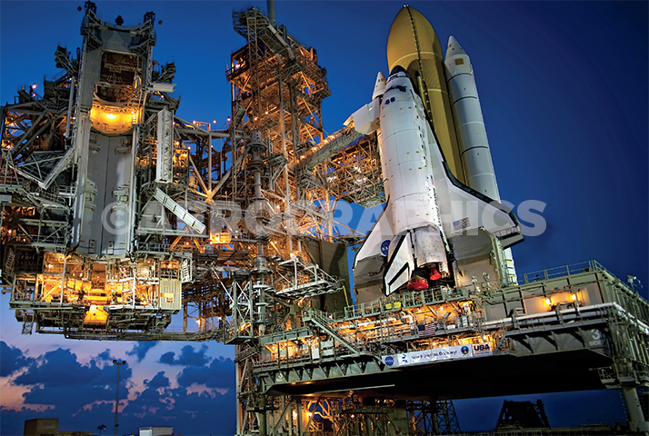Discovery on Pad Awaiting Final Mission STS-133