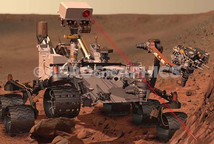 Mars Rover Curiosity postcard