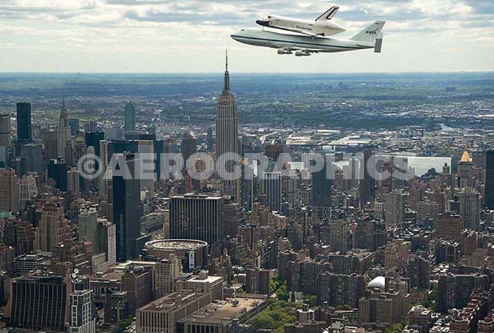 Enterprise Fly Over New York City postcard