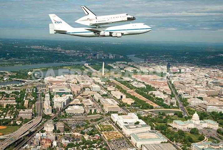 Discovery Fly Over DC postcard