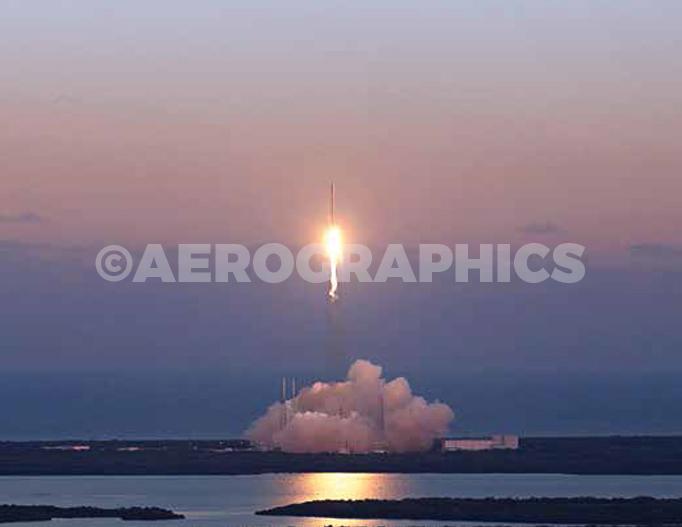 SpaceX Falcon 9 postcard