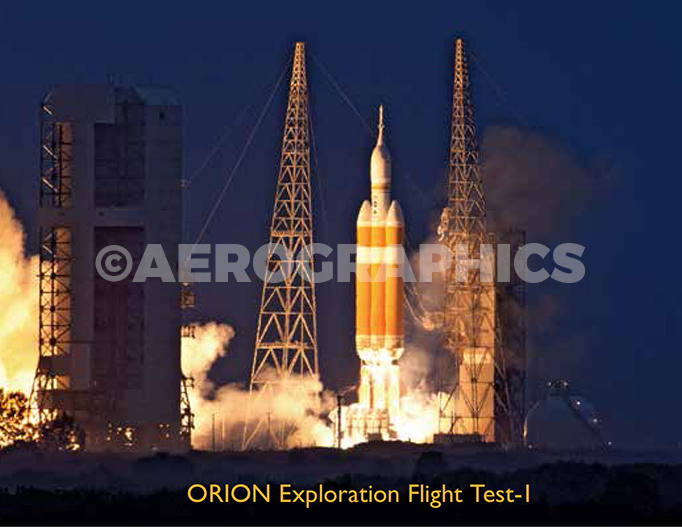 Orion EFT-1 postcard