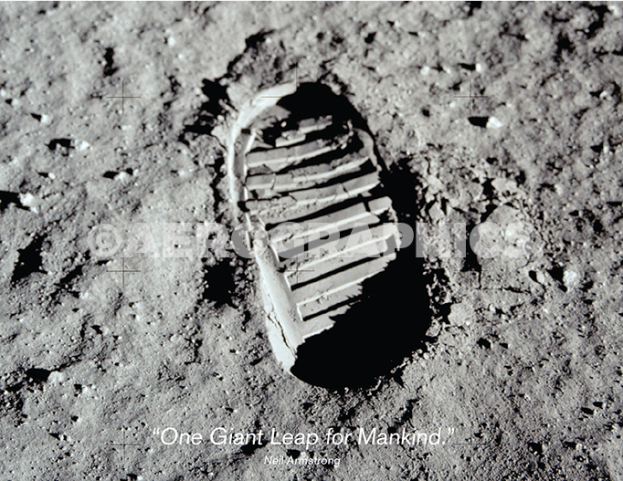 Boot print, Apollo postcard