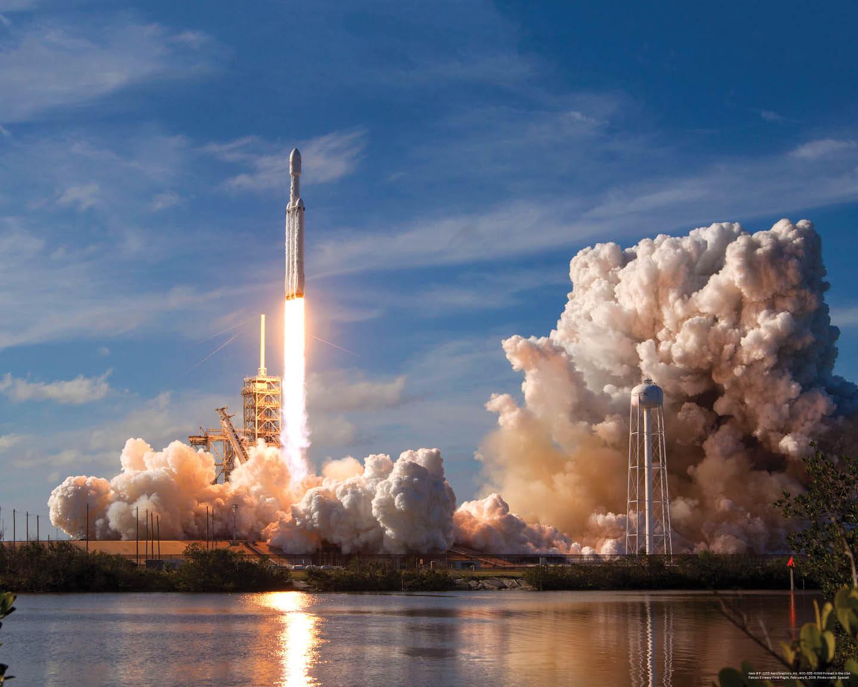 Falcon 9 Heavy Launch poster F-2255