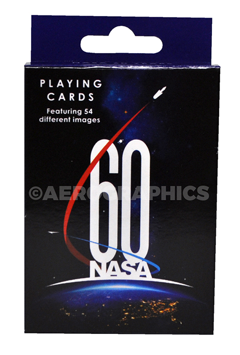 NASA 60 Years playing cards PC-1008