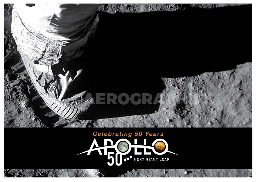 Apollo 50 Years postcard B-2270
