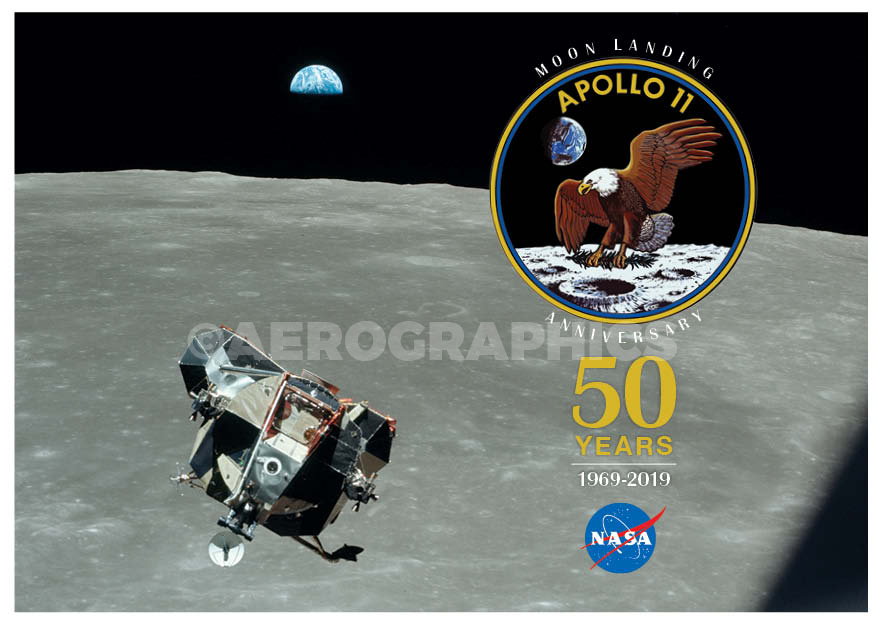 Apollo 11 50 Years postcard B-2271