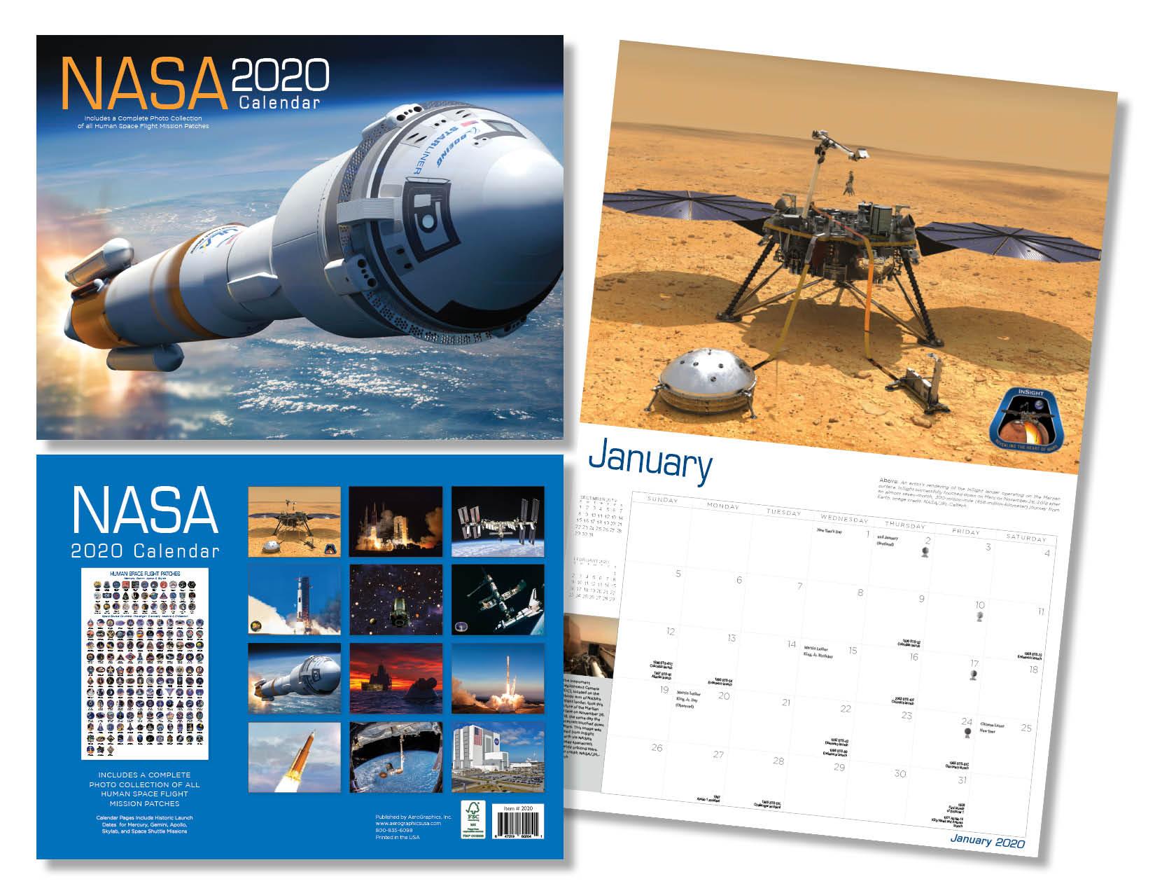 2020 NASA Calendar