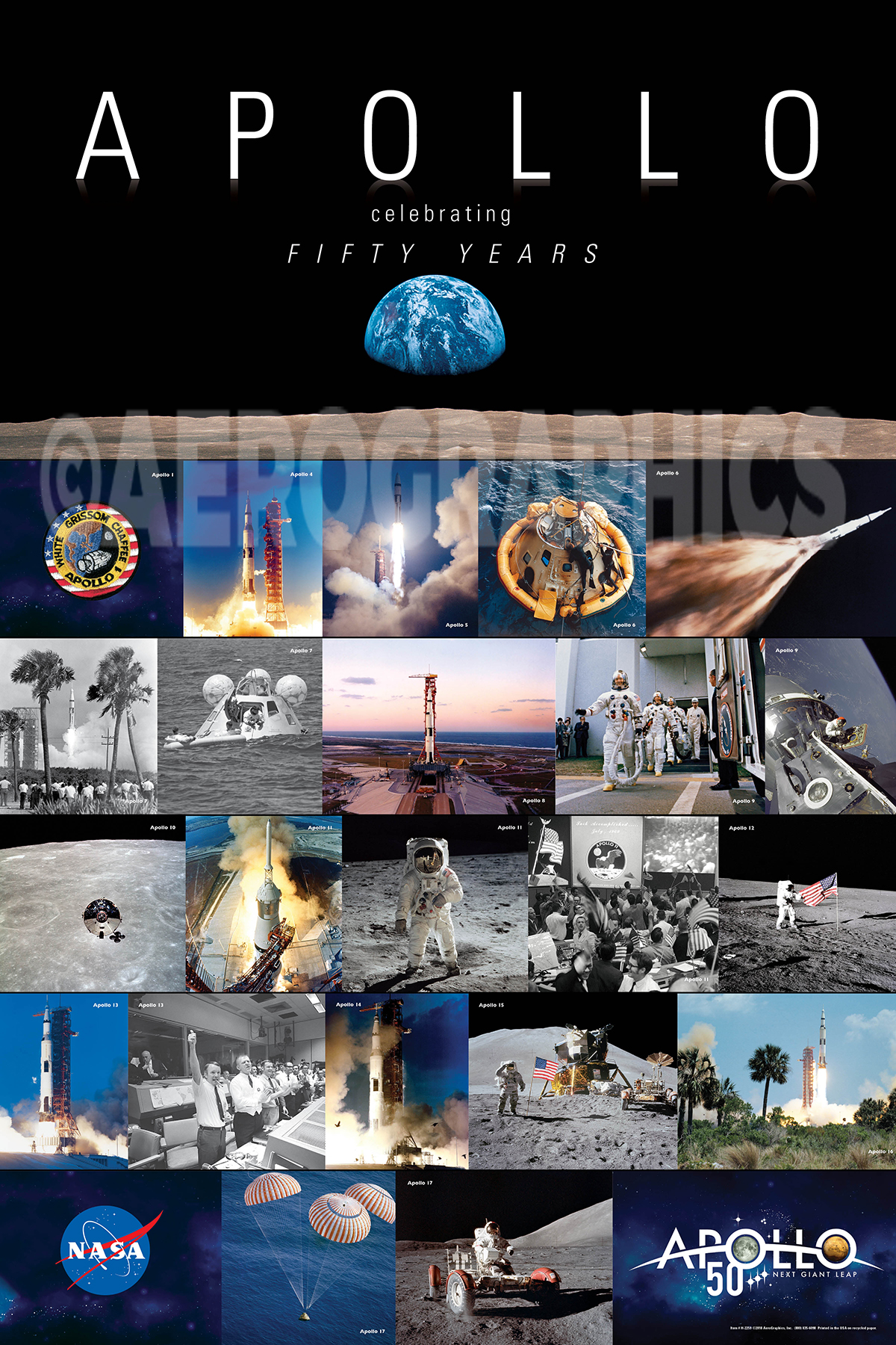 Apollo 11 50 Years poster H-2259