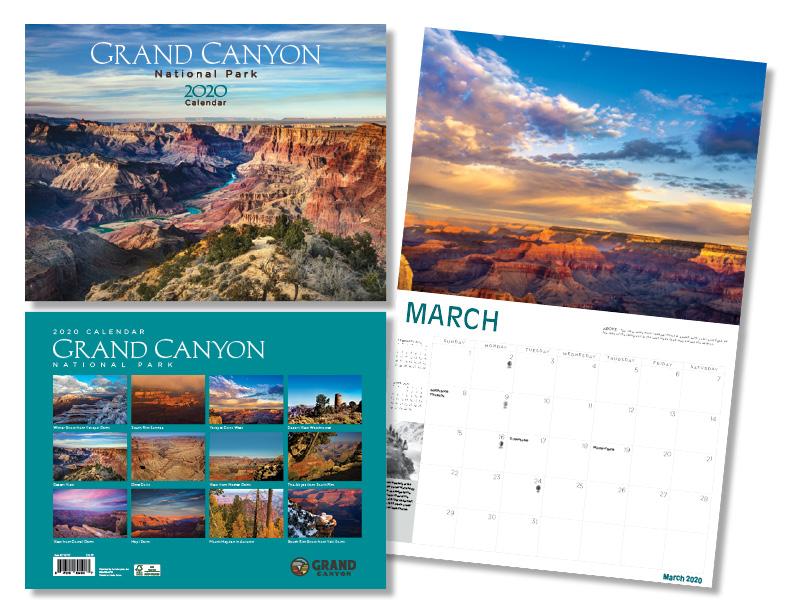 2020 Grand Canyon Calendar