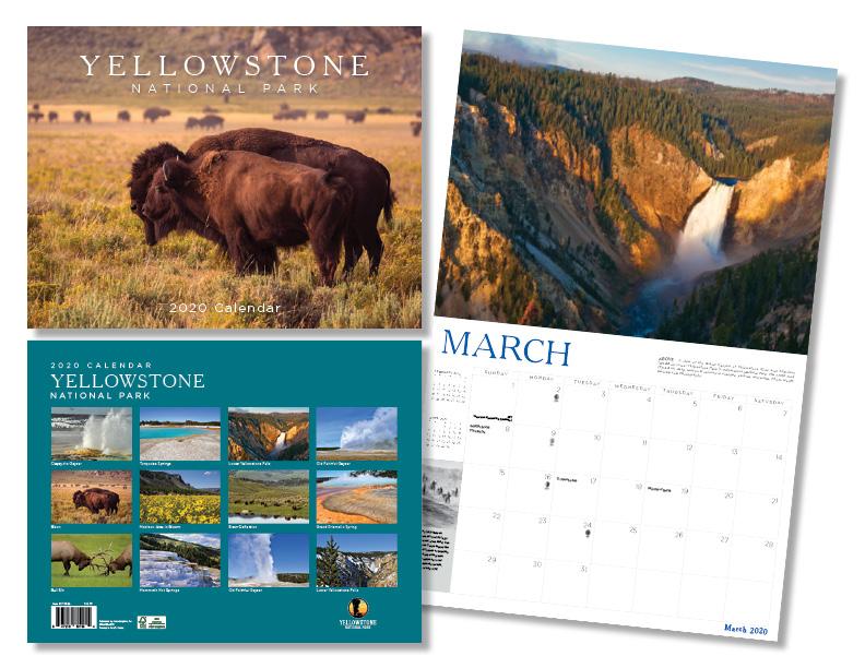 2020 Yellowstone Calendar